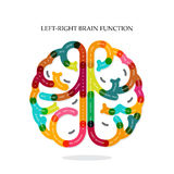 Creative infographics left and right brain function idea royalty free illustration