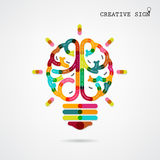 Creative infographics left and right brain function ideas on background