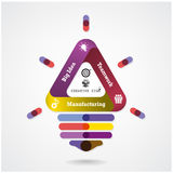 Creative  infographics light bulb idea concept background Stock Photo
