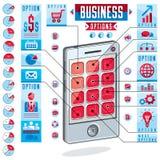 Creative infographics, smatphone options , ill Stock Image