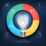 Creative infographics template with bulb Royalty Free Stock Photo