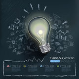 Creative infographics template with bulb Royalty Free Stock Photos