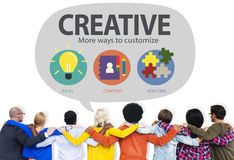 Creative Innovation Vision Inspiration Customize Concept.  Royalty Free Stock Photography
