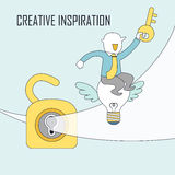 Creative inspiration concept Stock Images