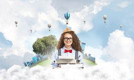 Creative inspiration of young female writer. Stock Images