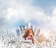Creative inspiration of young female writer. Royalty Free Stock Photos