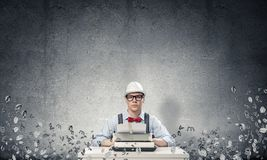 Creative inspiration of young writer. stock photography