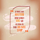Creative Inspiring Motivation Quote on old papper Royalty Free Stock Photography