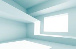 Creative Interior Design. 3d Illustration of Blue Creative Interior Design vector illustration