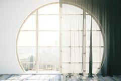 Creative interior with round window Stock Photos