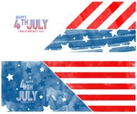 Creative Invitation Flyer decorated with blue and red brush strokes for American flag 4th of July, Independence Day Party celebrat. Creative Invitation Flyer vector illustration