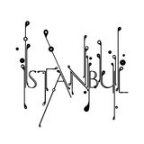 Creative Istanbul Typography Royalty Free Stock Image