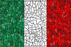 Creative ITALY national flag Stock Image