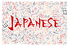 Creative japanese alphabet texture background Royalty Free Stock Photo