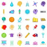 Creative job icons set, cartoon style Royalty Free Stock Photography