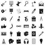 Creative job icons set, simple style Royalty Free Stock Photography