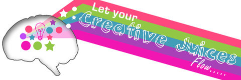 Creative Juices Colorful Banner Stock Images
