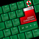 2017 Creative Keyboard Christmas Calendar. For Print or Web Royalty Free Stock Image
