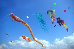 Creative kites royalty free stock images