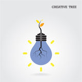 Creative and knowledge tree concept. Education and business sign Royalty Free Stock Photo
