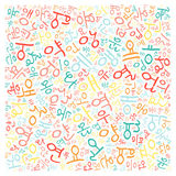 Creative Korean alphabet texture background. High resolution vector illustration