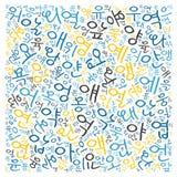 Creative Korean alphabet texture background. High resolution stock illustration