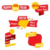 Creative new year 2018 calendar template design Stock Image