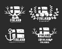 Creative labels of Finland. Stock Photo