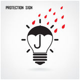 Creative lamp Idea and protection concept Stock Photo