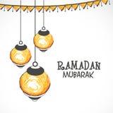 Creative lamps for Ramadan Kareem celebration. Stock Image