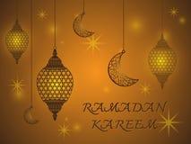 Creative Lantern of Ramadan Kareem Background Royalty Free Stock Image