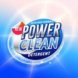 Creative laundry detergent product pacgaging concept design vect Stock Image