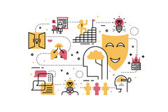 Creative learning illustration Royalty Free Stock Images