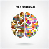 Creative left brain and right brain. Idea concept background .vector illustration royalty free illustration