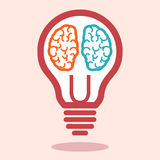 Creative left brain and right brain vector Stock Image