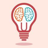 Creative left brain and right brain vector. Creative left brain and right brain Idea concept background .vector illustration stock illustration