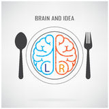 Creative left and right brain sign Royalty Free Stock Photo