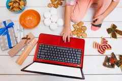 Creative leisure time on New Year`s day Royalty Free Stock Photo