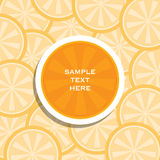 Creative lemon or orange fruit banner or brochure cover design Stock Images