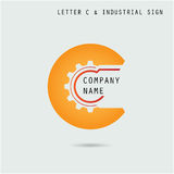 Creative letter C icon abstract logo design vector template with Royalty Free Stock Photo