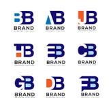Creative Letter combine logo design elements royalty free illustration