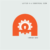 Creative letter A icon abstract logo design vector template with Stock Photography