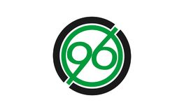 Creative letter 96 design logo. Creative letter 96 logo design with combination of green and black color Stock Photos