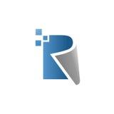Creative letter r data logo