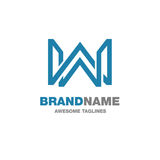 Creative letter W logo. Letter W Abstract business logo design template stock illustration