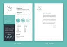 Creative letterhead template design - yellow cover letter vector. Sample illustration royalty free illustration