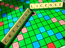 Creative license scrabble Royalty Free Stock Photos