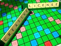 Creative license scrabble Royalty Free Stock Photos