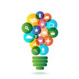 Creative light bulb royalty free illustration