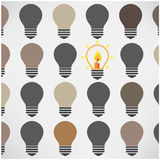 Creative light bulb background ,difference concept Stock Photography